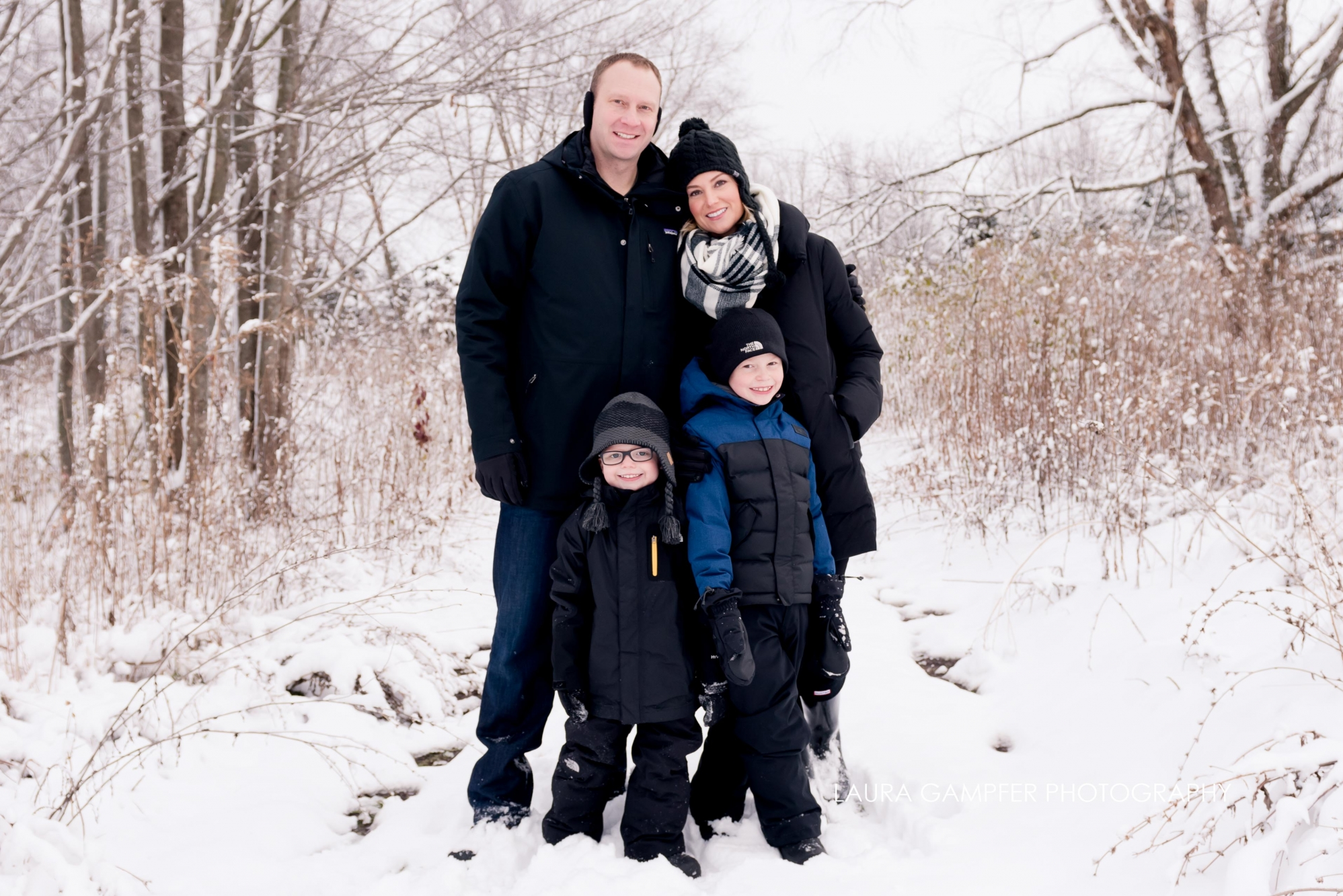 family fun in the snow - batavia il portraits