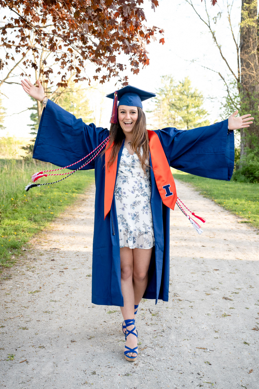 College graduation photography Kane County IL