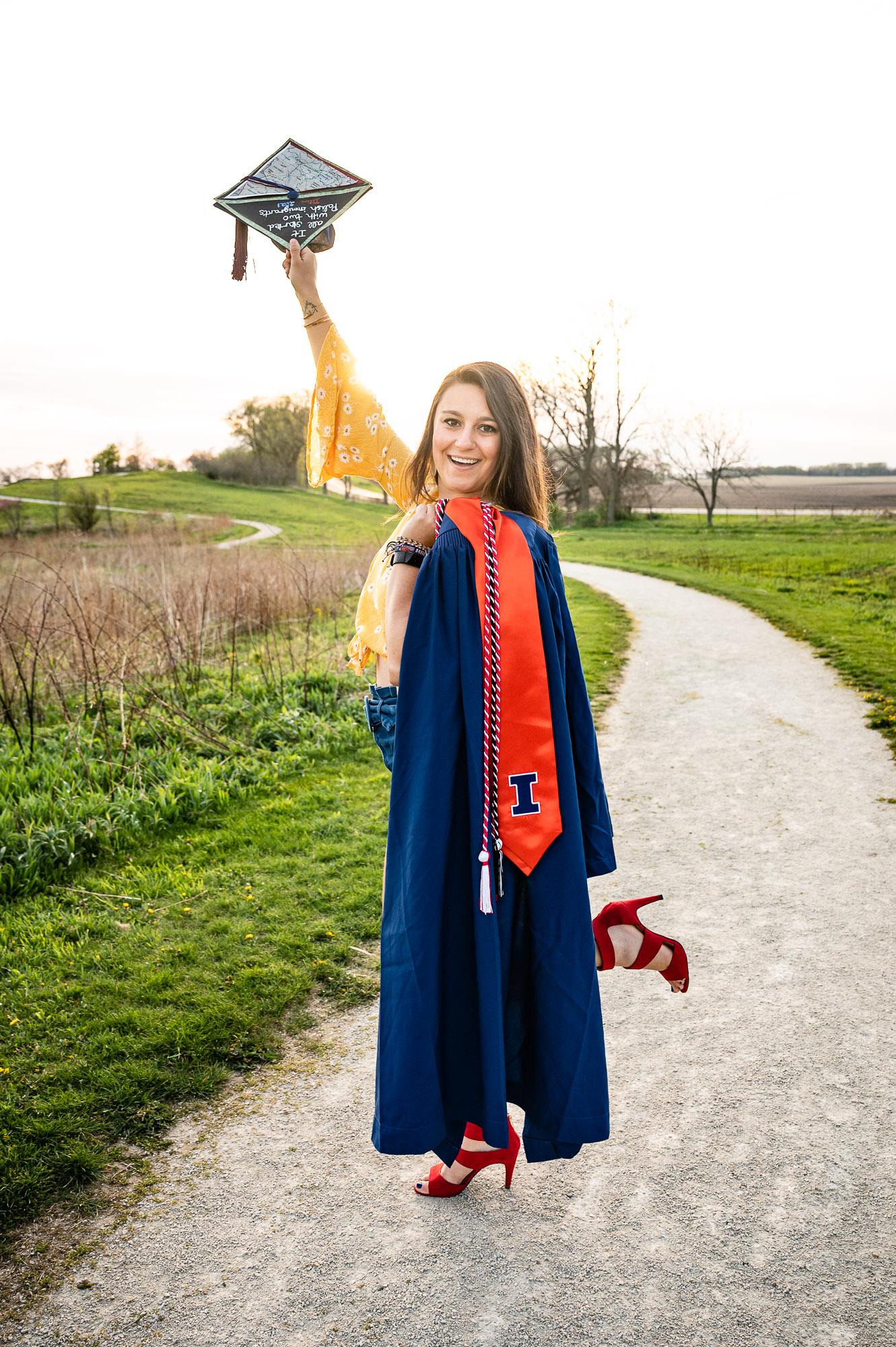 College graduation photographer Kane DeKalb DuPage County